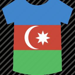 azerbaijan, flag, shirt icon