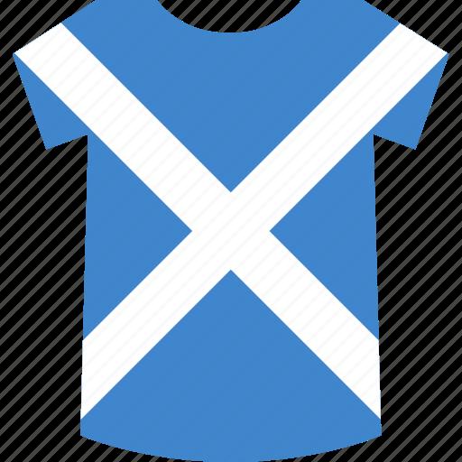 scotland, shirt icon