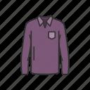 clothing, garment, longsleeve, male clothes, polo, shirt, sweatshirt