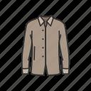 fashion, garment, long sleeve, male polo, polo, shirt icon