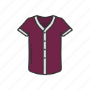 baseball jersey, clothes, clothing, fashion, jersey, shirt, v-neck icon