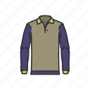 clothes, clothing, garment, male clothes, polo, polo shirt, shirt icon