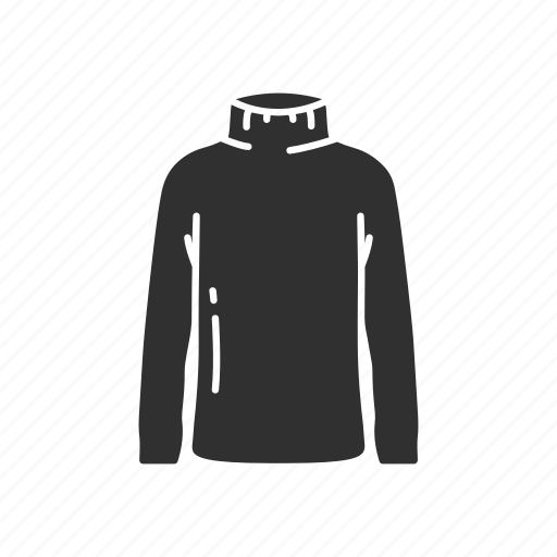 fashion, garment, jersey, shirt, sports shirt, turtle neck, v-neck icon
