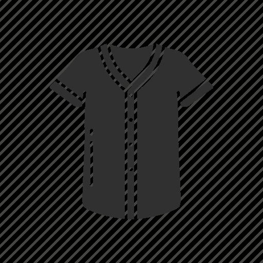 baseball shirt, fashion, garment, jersey, shirt, sports shirt, v-neck icon