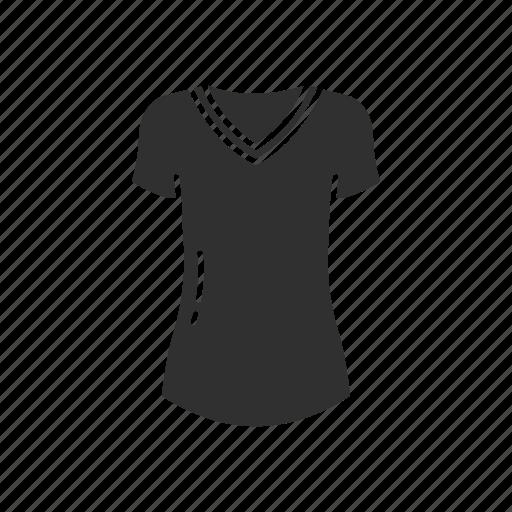 blouse, dress, fashion, garment, t-shirt, v-neck icon