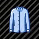 clothing, fashion, garment, male polo, polo, shirt icon