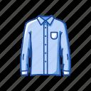 clothes, fashion, garment, male polo, polo, shirt icon