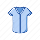 baseball shirt, clothing, fashion, jersey, shirt, sports shirt, v-neck icon