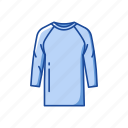 clothes, clothing, fashion, garment, rash guard, rash vest, shirt icon