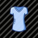 clothing, female clothing, garment, shirt, t-shirt, v-neck icon