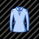 clothing, fashion, garment, longsleeves, polo, polo shirt icon