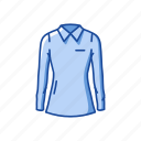 clothing, fashion, garment, longsleeve, polo, polo shirt, shirt icon