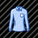 clothing, fashion, longsleeve, polo, polo shirt, shirt icon