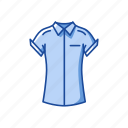 blouse, clothing, fashion, polo, polo shirt, shirt icon