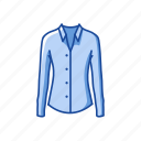business attire, clothes, clothing, fashion, longsleeves, polo icon