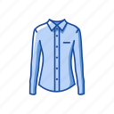clothing, fashion, longsleeves, polo, polo shirt icon