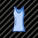 blouse, fashion, female clothes, garment, shirt, sleeveless icon
