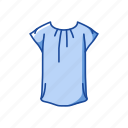 blouse, fashion, garment, shirt, short sleeve, t-shirt icon