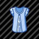 blouse, clothing, dress, fashion, garment icon