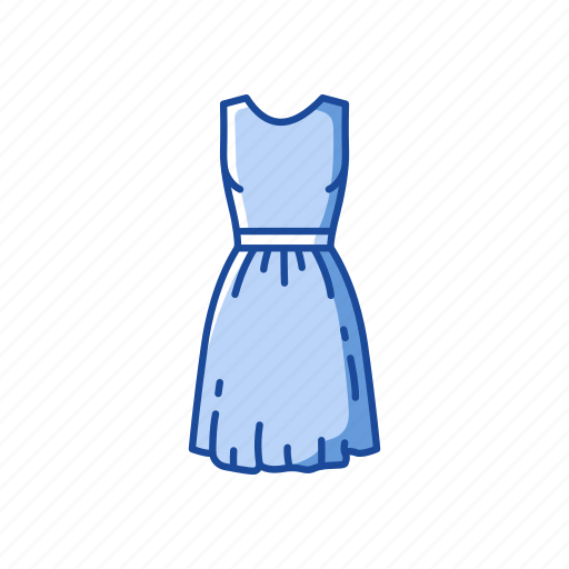 clothing, dress, frock, garment, party dress, skirt icon