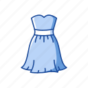 clothing, cocktail dress, frock, garment, party dress, skirt icon