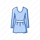 blouse, clothing, dress, fashion, frock, garment, skirt icon