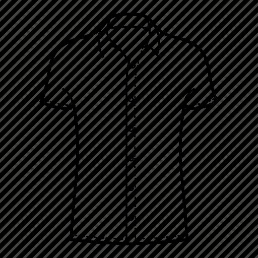 collar, collar shirt, mens wear, shirts, short sleeve, short sleeve shirt icon