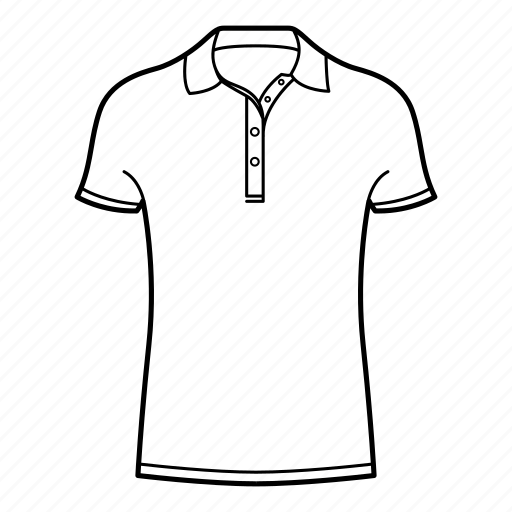 collar, collar shirt, polo, polo shirt, shirts, short sleeve collar shirt icon
