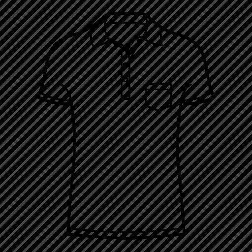 collar, collar shirt, polo, polo shirt, shirts, short sleeve collar shirt icon