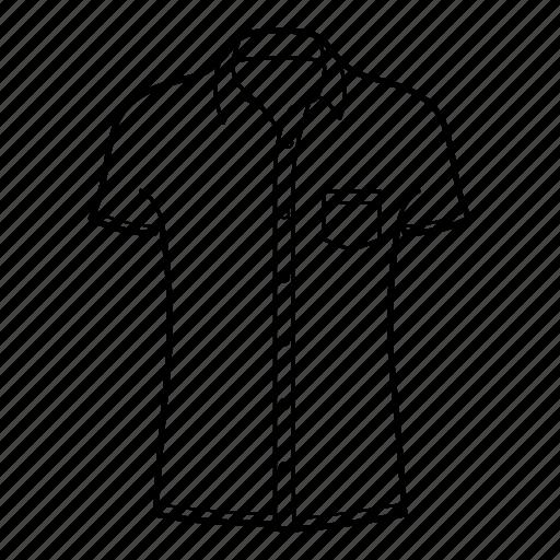 collar, shirts, short sleeve, short sleeve collar shirt icon
