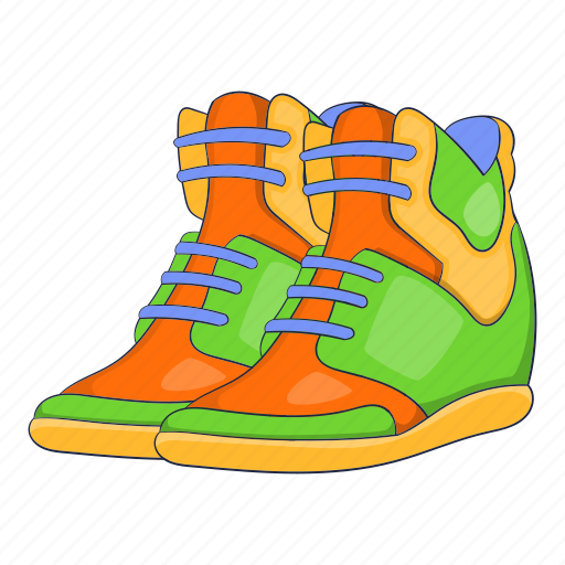 autumn, cartoon, shoe, sign, sneakers, sport, womens icon