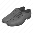 cartoon, classic, fashion, footwear, mens, shoes, sign icon