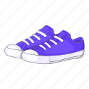 cartoon, footwear, purple, shoe, sign, sneakers, womens icon