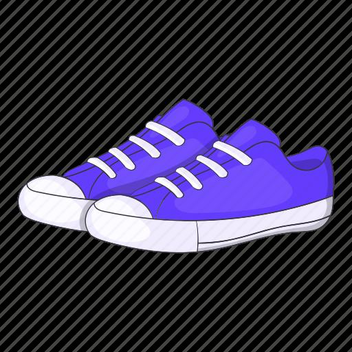 cartoon, footwear, purple, shoe, sign, sneakers, womens icon