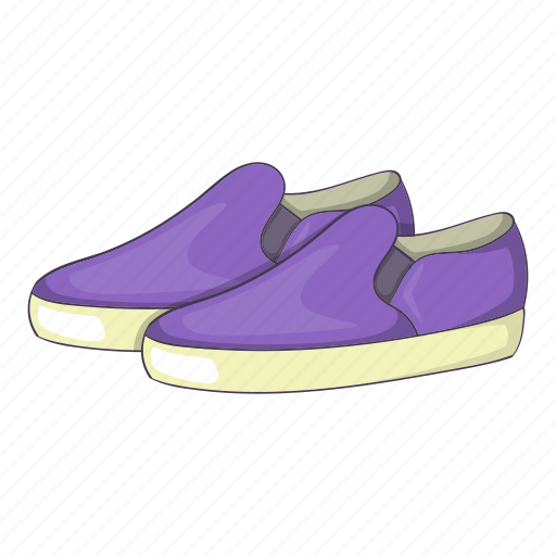 Cartoon, fashion, footwear, glamour, loafers, purple, sign icon - Download on Iconfinder