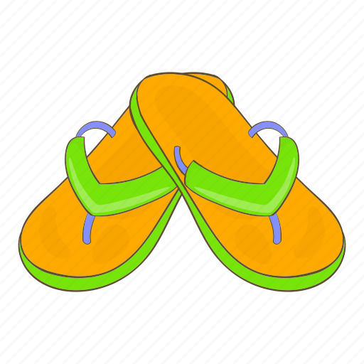 Cartoon, fashion, footwear, shoes, sign, slates, summer icon - Download on Iconfinder
