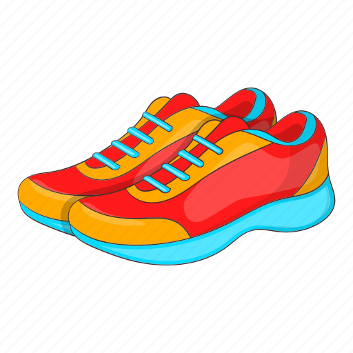 Cartoon Fashion Footwear Shoe Sign Sneakers Sport Icon Download On Iconfinder