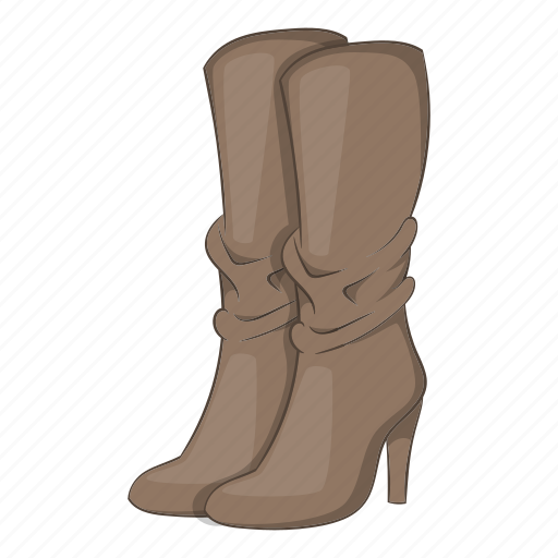 Boots, cartoon, fashion, heel, high, sign, womens icon - Download on Iconfinder