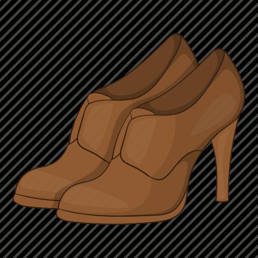 Cartoon, fashion, heel, platform, shoes, sign, womens icon - Download on Iconfinder