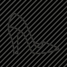 fashion, female, girl, lady, shopping, woman shoe icon