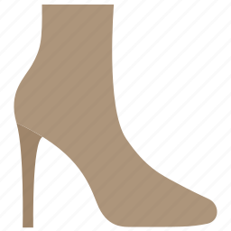 block heel, boots, fashion, leather, shoes, winter, woman icon