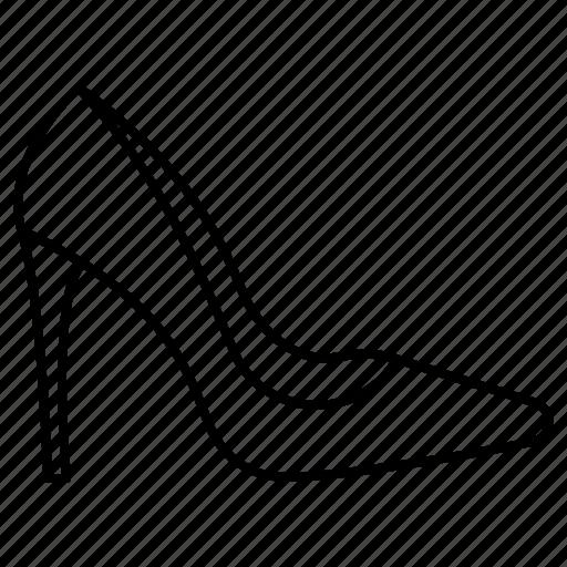block heel, elegant, fashion, pumps, shoes, spikes, woman icon