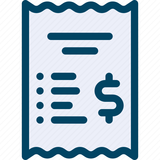 bill, check, document, dollar, invoice, pay, receipt icon