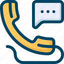 bubble, call, communication, phone, support icon