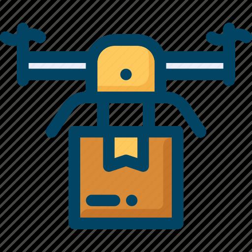 box, delivery, drone, logistic, logistics, shipping icon