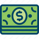 bank, banknote, dollar, finance, money icon