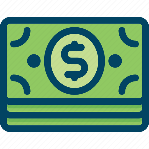 bank, banknote, dollar, finance, money icon