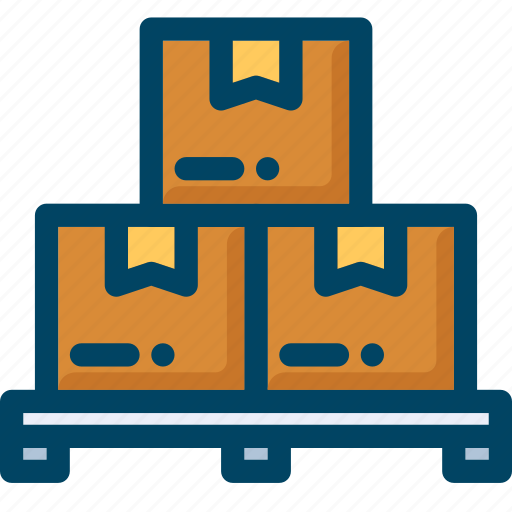 box, delivery, pallet, shipping, shop, warehouse icon