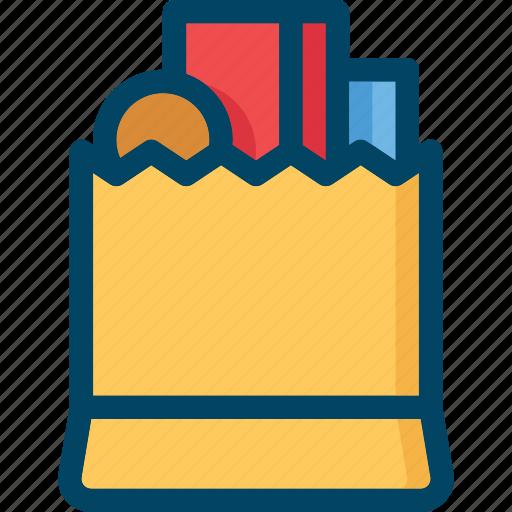 bag, full, goods, pack, shop, shopping, store icon