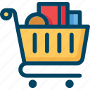 basket, retail, shop, shopping, store, trolley icon